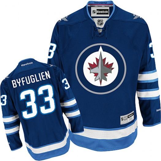 Dustin Byfuglien Winnipeg Jets Youth Reebok Authentic Navy Blue Home Jersey