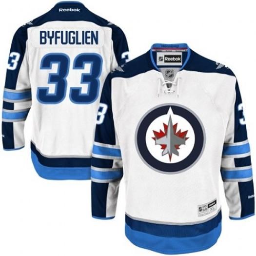 Dustin Byfuglien Winnipeg Jets Youth Reebok Authentic White Away Jersey