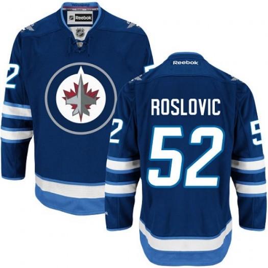 Jack Roslovic Winnipeg Jets Men's Reebok Premier Navy Blue Home Jersey