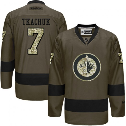 Keith Tkachuk Winnipeg Jets Men's Reebok Authentic Green Salute to Service Jersey