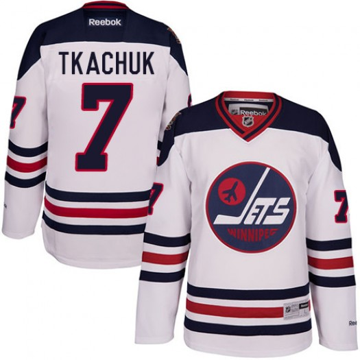 Keith Tkachuk Winnipeg Jets Men's Reebok Authentic White 2016 Heritage Classic Jersey