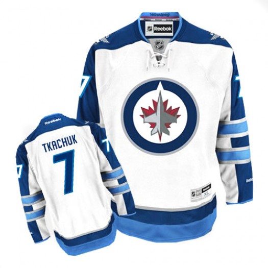 Keith Tkachuk Winnipeg Jets Men's Reebok Authentic White Away Jersey
