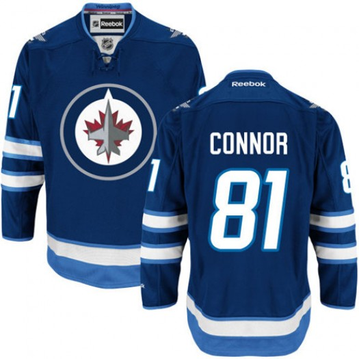Kyle Connor Winnipeg Jets Men's Reebok Authentic Navy Blue Home Jersey