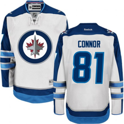Kyle Connor Winnipeg Jets Men's Reebok Authentic White Away Jersey