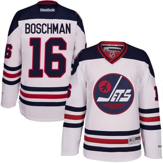 Laurie Boschman Winnipeg Jets Men's Reebok Premier White 2016 Heritage Classic Jersey
