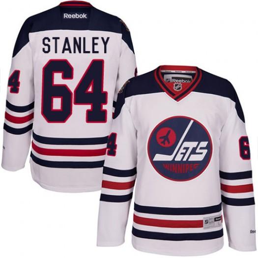 Logan Stanley Winnipeg Jets Men's Reebok Authentic White 2016 Heritage Classic Jersey