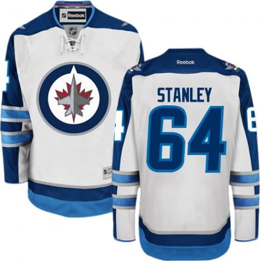 Logan Stanley Winnipeg Jets Men's Reebok Premier White Away Jersey