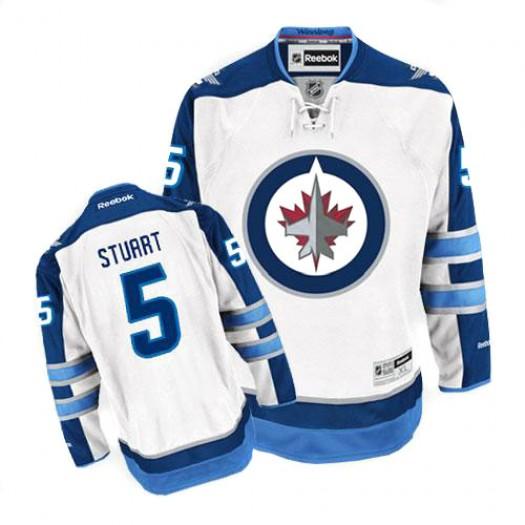 Mark Stuart Winnipeg Jets Men's Reebok Premier White Away Jersey
