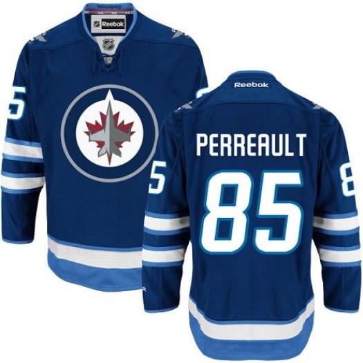 Mathieu Perreault Winnipeg Jets Men's Reebok Authentic Navy Blue Home Jersey