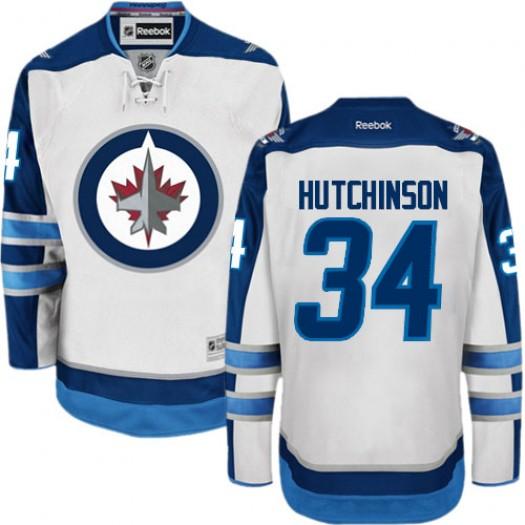 Michael Hutchinson Winnipeg Jets Men's Reebok Authentic White Away Jersey