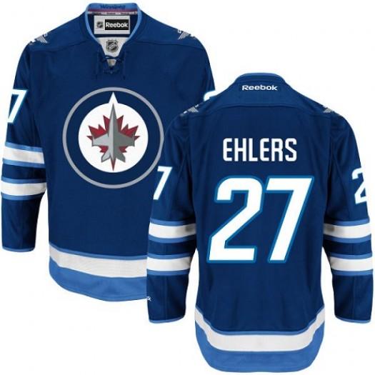 Nikolaj Ehlers Winnipeg Jets Men's Reebok Authentic Navy Blue Home Jersey