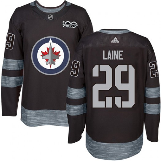 Patrik Laine Winnipeg Jets Men's Adidas Authentic Black 1917-2017 100th Anniversary Jersey
