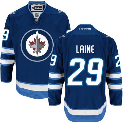 Patrik Laine Winnipeg Jets Men's Reebok Authentic Navy Blue Home Jersey