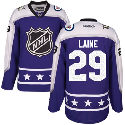 Patrik Laine Winnipeg Jets Men's Reebok Authentic Purple Central Division 2017 All-Star Jersey