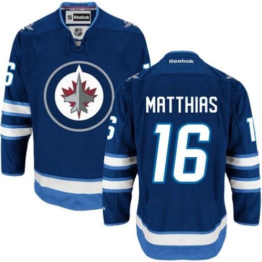 Shawn Matthias Winnipeg Jets Men's Reebok Authentic Navy Blue Home Jersey