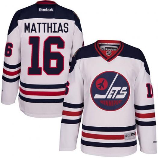 Shawn Matthias Winnipeg Jets Men's Reebok Authentic White 2016 Heritage Classic Jersey