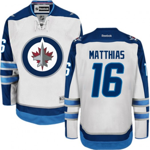 Shawn Matthias Winnipeg Jets Men's Reebok Authentic White Away Jersey