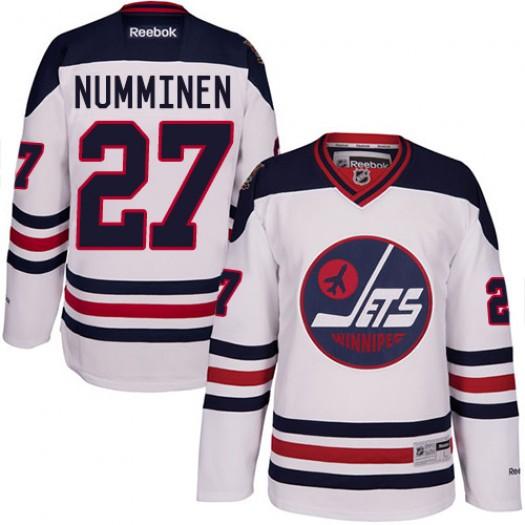 Teppo Numminen Winnipeg Jets Men's Reebok Authentic White 2016 Heritage Classic Jersey