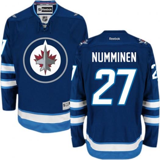 Teppo Numminen Winnipeg Jets Men's Reebok Premier Navy Blue Home Jersey
