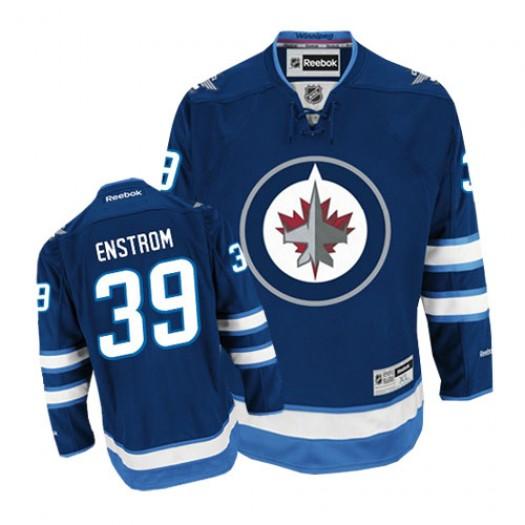 Tobias Enstrom Winnipeg Jets Men's Reebok Authentic Navy Blue Home Jersey