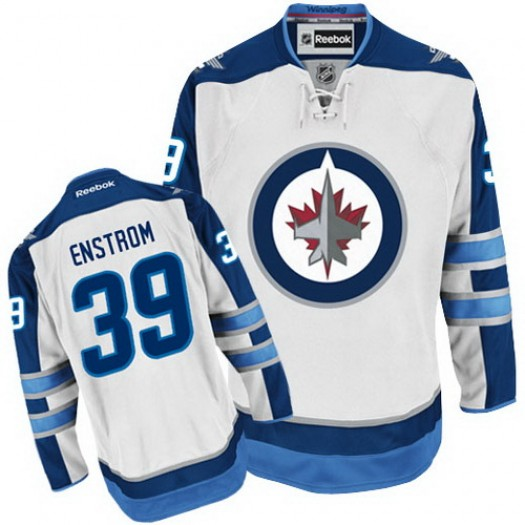 Tobias Enstrom Winnipeg Jets Men's Reebok Authentic White Away Jersey