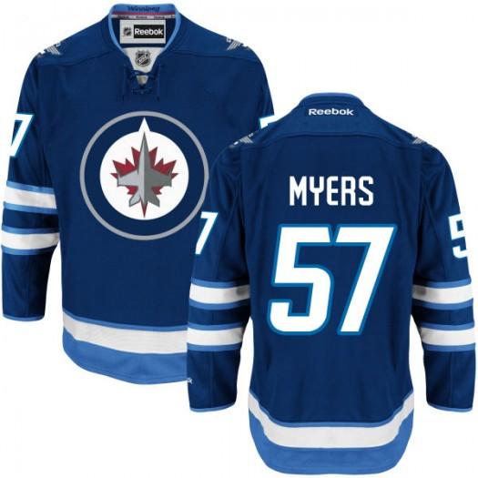 Tyler Myers Winnipeg Jets Men's Reebok Premier Navy Blue Home Jersey