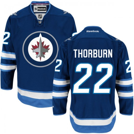 Chris Thorburn Winnipeg Jets Men's Reebok Replica Navy Blue Home Jersey