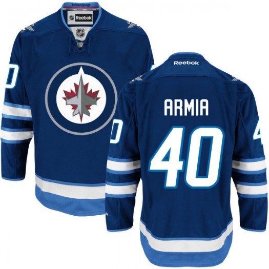 Joel Armia Winnipeg Jets Men's Reebok Replica Navy Blue Home Jersey