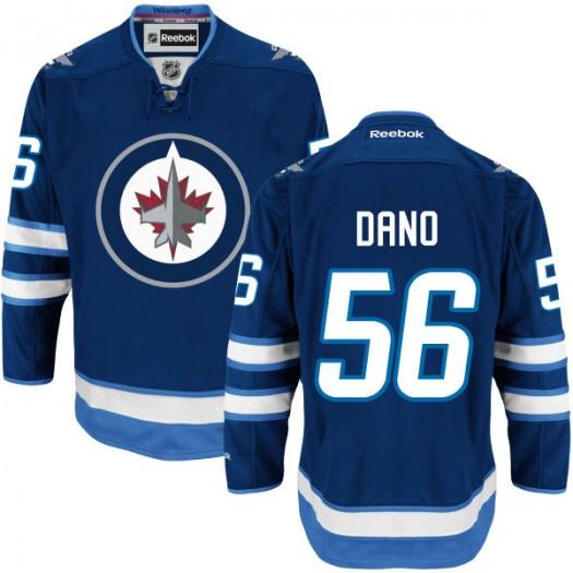 Marko Dano Winnipeg Jets Men's Reebok Replica Navy Blue Home Jersey