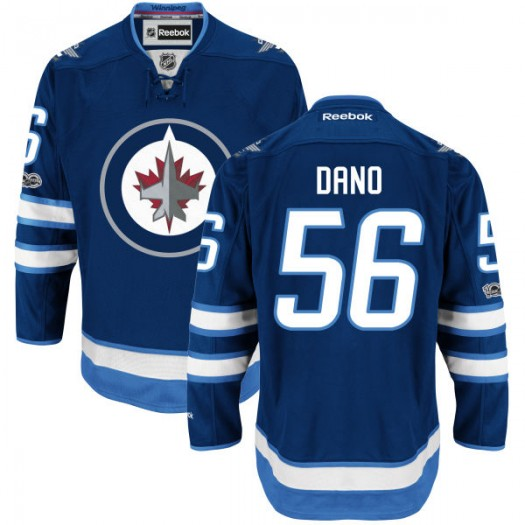 Marko Dano Winnipeg Jets Men's Reebok Premier Navy Home Centennial Patch Jersey
