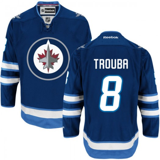 Jacob Trouba Winnipeg Jets Men's Reebok Authentic Navy Blue Home Jersey