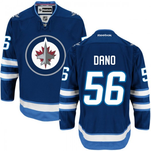 Marko Dano Winnipeg Jets Youth Reebok Replica Navy Blue Home Jersey