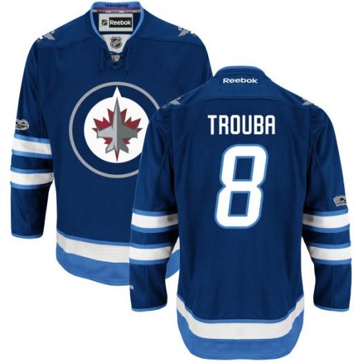 Jacob Trouba Winnipeg Jets Youth Reebok Premier Navy Home Centennial Patch Jersey