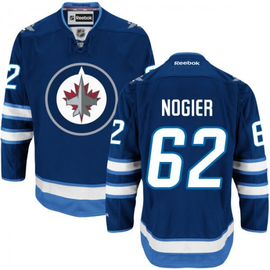 Nelson Nogier Winnipeg Jets Youth Reebok Authentic Navy Blue Home Jersey