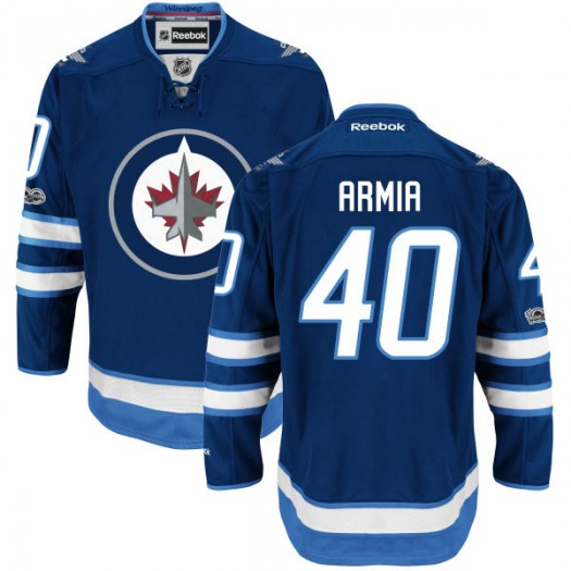 Joel Armia Winnipeg Jets Youth Reebok Authentic Navy Home Centennial Patch Jersey
