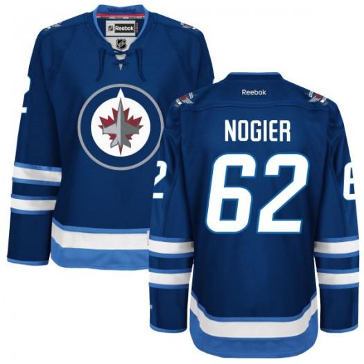 Nelson Nogier Winnipeg Jets Women's Reebok Replica Navy Blue Home Jersey