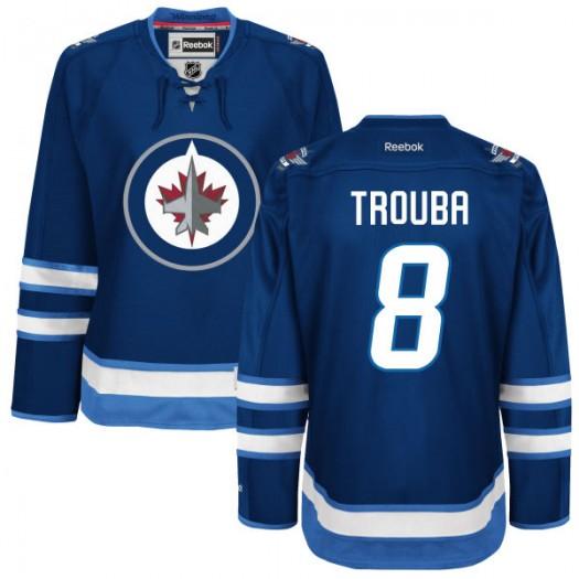 Jacob Trouba Winnipeg Jets Women's Reebok Authentic Navy Blue Home Jersey