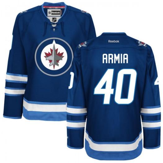 Joel Armia Winnipeg Jets Women's Reebok Authentic Navy Blue Home Jersey