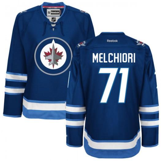 Julian Melchiori Winnipeg Jets Women's Reebok Authentic Navy Blue Home Jersey