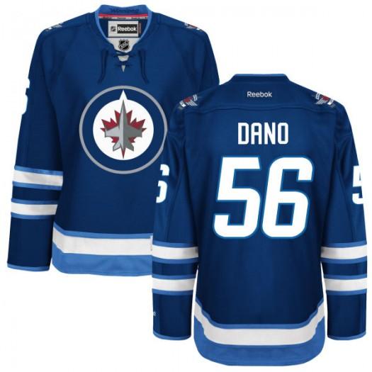 Marko Dano Winnipeg Jets Women's Reebok Authentic Navy Blue Home Jersey