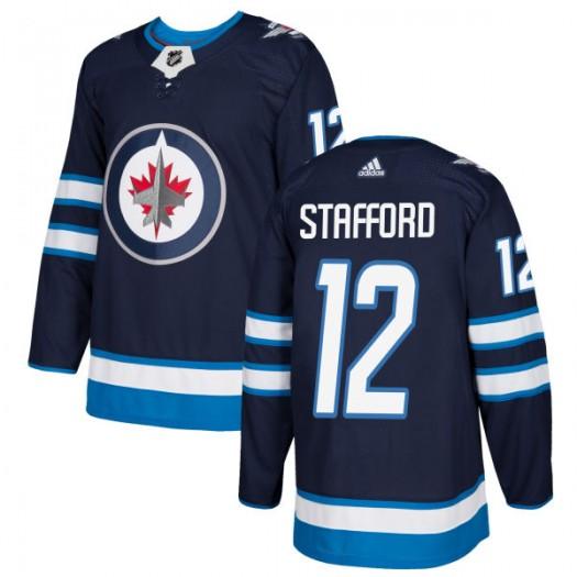 Drew Stafford Winnipeg Jets Men's Adidas Authentic Navy Jersey