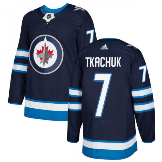 Keith Tkachuk Winnipeg Jets Men's Adidas Authentic Navy Jersey