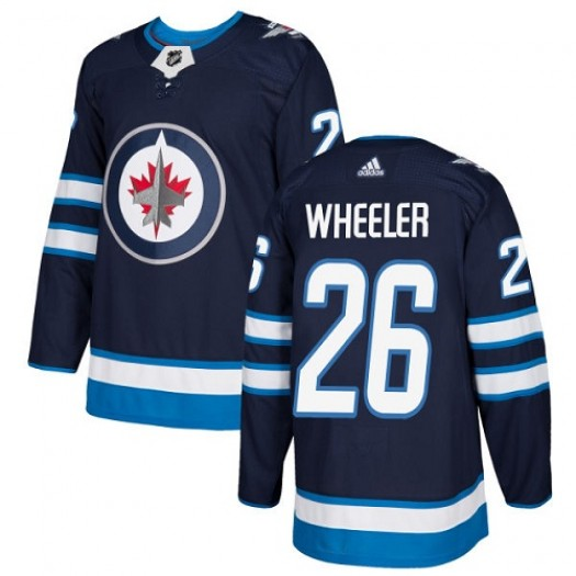 Blake Wheeler Winnipeg Jets Men's Adidas Premier Navy Blue Home Jersey