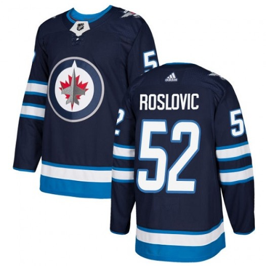 Jack Roslovic Winnipeg Jets Men's Adidas Premier Navy Blue Home Jersey
