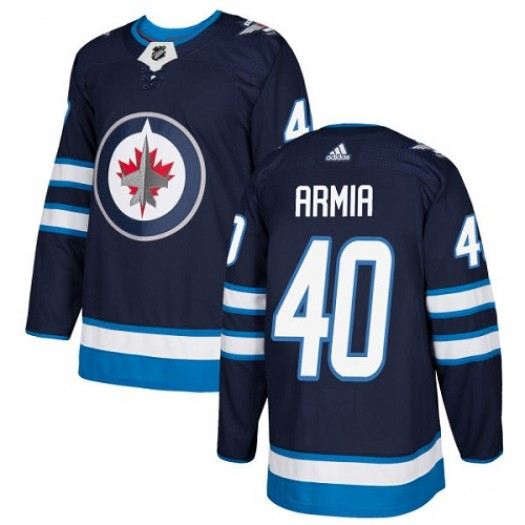 Joel Armia Winnipeg Jets Youth Adidas Authentic Navy Blue Home Jersey