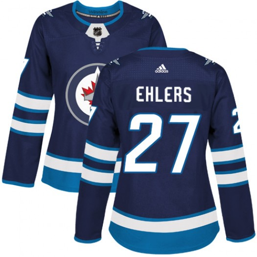 Nikolaj Ehlers Winnipeg Jets Women's Adidas Authentic Navy Blue Home Jersey
