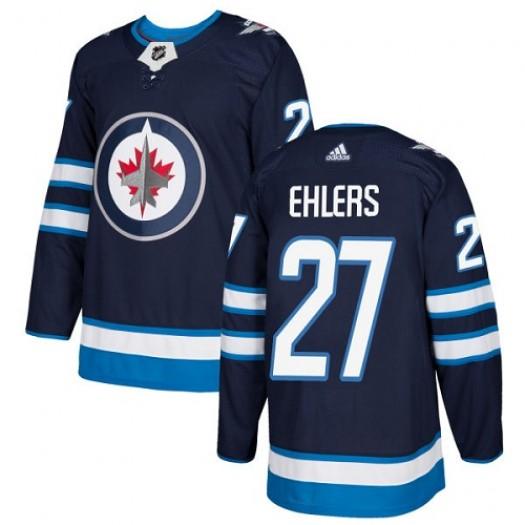 Nikolaj Ehlers Winnipeg Jets Youth Adidas Premier Navy Blue Home Jersey