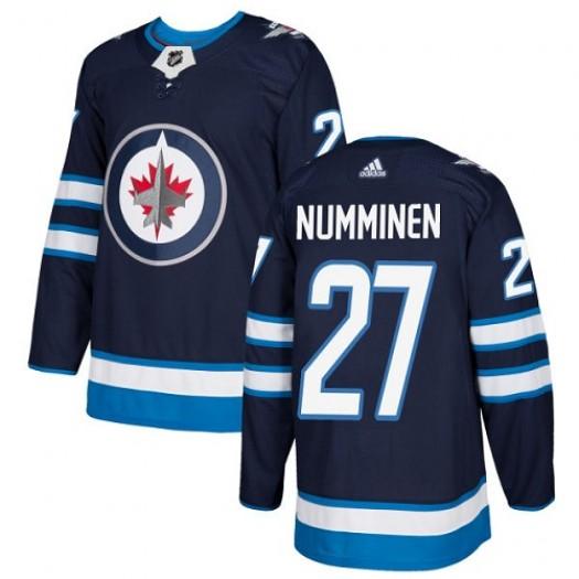 Teppo Numminen Winnipeg Jets Men's Adidas Premier Navy Blue Home Jersey