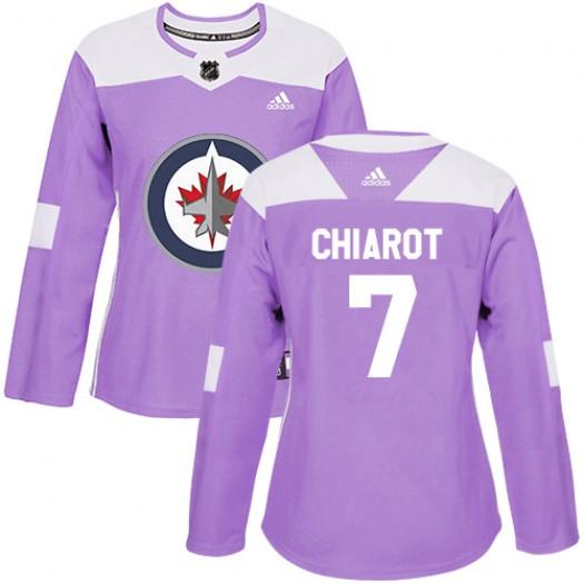Ben Chiarot Winnipeg Jets Women's Adidas Authentic Purple Fights Cancer Practice Jersey