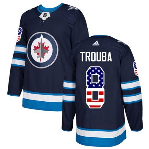 Jacob Trouba Winnipeg Jets Men's Adidas Authentic Navy Blue USA Flag Fashion Jersey